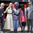 Beatrice Borromeo, Khadja Nin et Pierre Casiraghi en visite dans le paddock lors du 77e Grand Prix de Formule 1 de Monaco le 26 mai 2019.