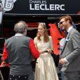 Beatrice Borromeo et Pierre Casiraghi avec Khadja Nin avant le départ du 77e Grand Prix de Formule 1 de Monaco le 26 mai 2019. © Bruno Bebert/Bestimage