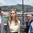 Pierre Casiraghi et son épouse Beatrice Borromeo, habillée d'une robe Dior de la collection Croisière 2019, avant le départ du 77e Grand Prix de Formule 1 de Monaco le 26 mai 2019. © Bruno Bebert/Bestimage