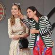 Béatrice Borromeo et Tatiana Santo Domingo lors du podium du 77e Grand Prix de F1 de Monaco le 26 mai 2019. © Bruno Bebert/Bestimage