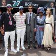 Chris Tucker, son fils, à gauche, Pierre Casiraghi, Khadja Nin et Beatrice Borromeo lors du 77e Grand Prix de F1 de Monaco le 26 mai 2019. © Bruno Bebert/Bestimage