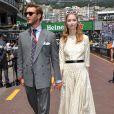 Pierre Casiraghi et sa femme Beatrice Borromeo (robe Dior issue de la collection Croisière 2019) se promenant dans le paddock lors du 77e Grand Prix de F1 de Monaco le 26 mai 2019. © Bruno Bebert/Bestimage