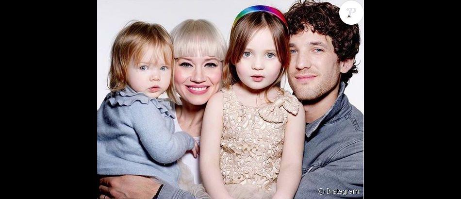 Kimberly Wyatt, Max Rogers et leurs deux filles Maple et Willow.