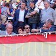 Le roi Juan Carlos Ier d'Espagne aux arènes Las Ventas à Madrid lors de la Feria de San Isidro, le 24 mai 2019.