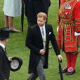 Le prince Harry lors de la garden party donnée à Buckingham Palace par la reine Elizabeth II le 29 mai 2019.