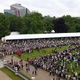 Vue aérienne lors de la garden party donnée à Buckingham Palace par la reine Elizabeth II le 29 mai 2019.