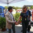 Manuel Valls et sa compagne Susana Gallardo au Grand Prix d'Espagne sur le circuit de Barcelone-Catalogne à Barcelone, le 12 mai 2019.