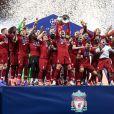 Les joueurs de Liverpool célèbrent la victoire - Liverpool remporte sa sixième Ligue des champions face à Tottenham, à Madrid, Espagne, le 1er juin 2019. Liverpool a gagné 2-0. © Image Sport/Panoramic/Bestimage