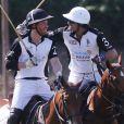"""Le prince Harry, duc de Sussex et Nacho Figueras - Coupe de polo """"Sentebale ISPS Handa Polo Cup"""" à Rome. Cette organisation caritative Sentebale a été fondée par le duc de Sussex et le prince Seeiso en 2006 pour aider les enfants les plus vulnérables du Lesotho, du Botswana et du Malawi. Le 24 mai 2019."""