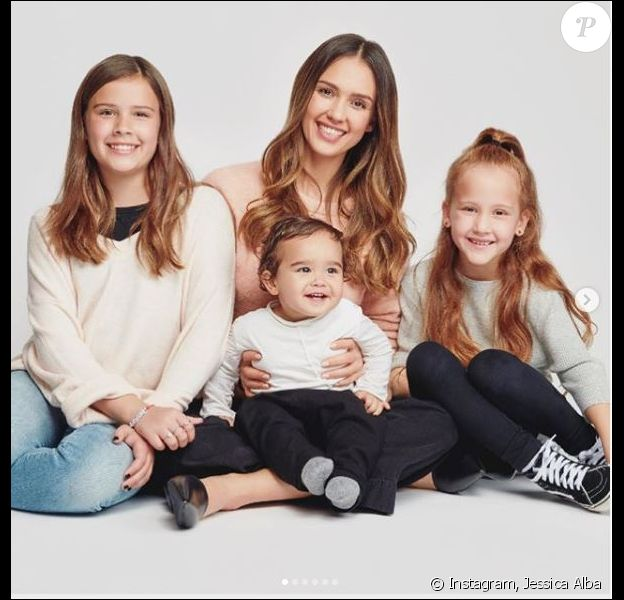 Jessica Alba et ses enfants Honor, Haven et Hayes.