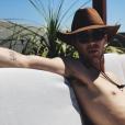 Andrea Thoma a pris en photo son mari Grant Gustin, en vacances au Mexique. Instagram, 4 juin 2019.