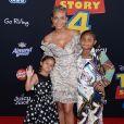 """Christina Milian avec sa fille Violet et sa nièce Naomi à la première du film d'animation Disney et Pixar """"Toy Story 4"""" au théâtre El Capitan à Los Angeles, Californie, Etats-Unis, le 11 juin 2019."""