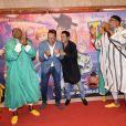 """Exclusif - Boualem Lamhene (Vice President - The Walt Disney Company) et Jamel Debbouze assistent à la séance exceptionnelle du film """"Toy Story 4"""" lors du Marrakech du rire au cinéma colisée à Marrakech au Maroc le 13 juin 2019. © Rachid Bellak/bestimage"""