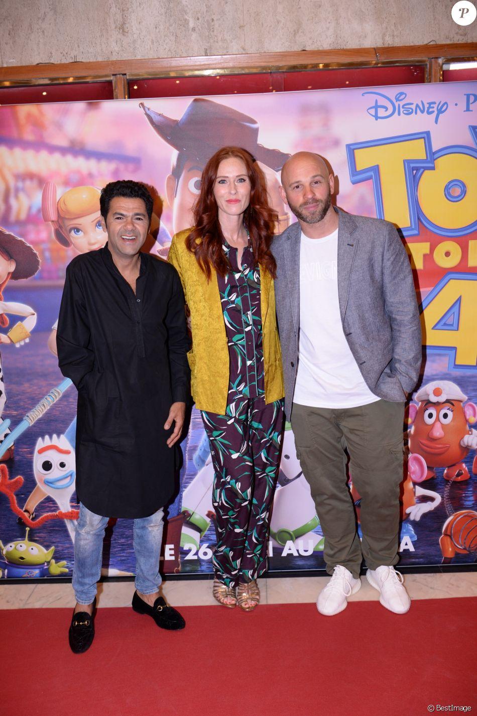 """Exclusif - Jamel Debbouze, Audrey Fleurot et Franck Gastambide assistent à la séance exceptionnelle du film """"Toy Story 4"""" lors du Marrakech du rire au cinéma colisée à Marrakech au Maroc le 13 juin 2019. © Rachid Bellak/bestimage"""