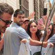 David Beckham - La famille Beckham quitte Seville après le mariage de Sergio Ramos et Pilar Rubio en Espagne, le 16 juin 2019.