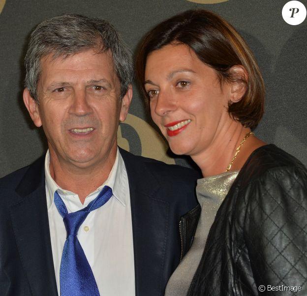 Patrick Chêne et sa femme Laurence - Soirée des 30 ans de Canal + au Palais de Tokyo à Paris le 4 novembre 2014.