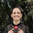 """Exclusif - Rendez-vous avec Lucie Lucas organisé par """"La journée By The Land"""" sur le rooftop situé à l'hôtel 3.14 lors du 72ème Festival de Cannes le 17 mai 2019. © Denis Guignebourg/Bestimage"""