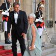Christine Lagarde et son époux à l'Elysée pour le dîner d'Etat du 22 juin.