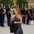 Christine Albanel à l'Elysée pour le dîner d'Etat du 22 juin.