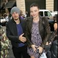 Orlando Bloom et Miranda Kerr en septembre 2010, à Paris.