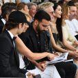 """Brandon Lee, sa mère Pamela Anderson et Adil Rami lors de la soirée Amber Lounge Monaco 2019 au profit de la fondation de Jackie Stewart """"Race Against Dementia"""" à l'hôtel Méridien Beach Plaza à Monaco, le 24 mai 2019. © Bruno Bebert / Bestimage"""