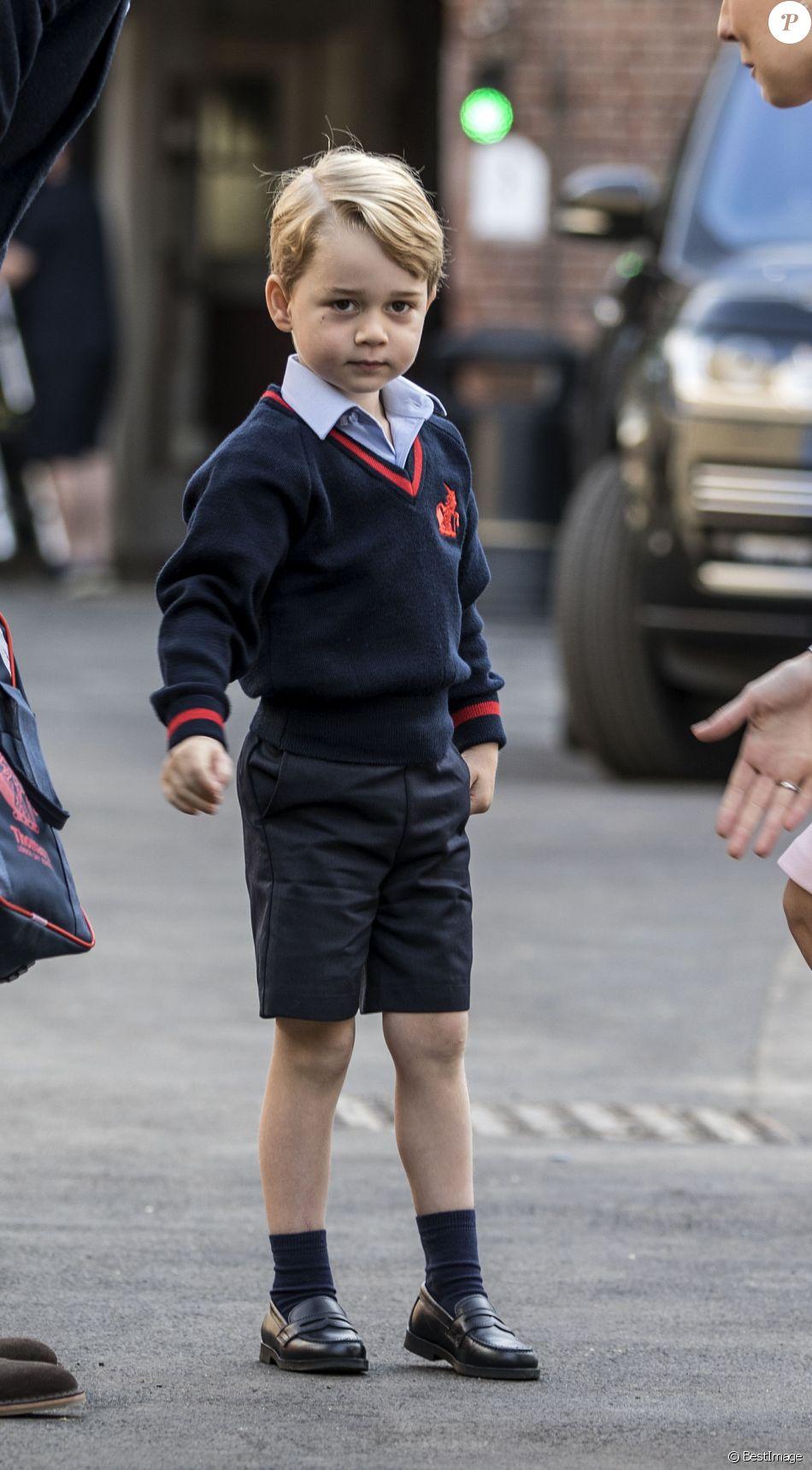 Le prince George de Cambridge a fait sa rentrée à l'école Thomas's Battersea le 7 septembre 2017.