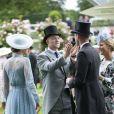 Mike et Zara Tindall avec le prince William et la duchesse Catherine de Cambridge lors du Royal Ascot le 18 juin 2019.