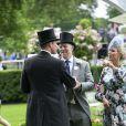 Mike et Zara Tindall avec le prince William lors du Royal Ascot le 18 juin 2019.