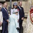 Zara (Phillips) et Mike Tindall à la messe de Pâques à la chapelle Saint-Georges du château de Windsor, le 21 avril 2119.