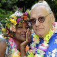 Exclusif - Babette de Rozières avec son mari Claude Butin - Garden party organisée par Babette de Rozières chez elle à Maule le 30 juin 2019. © Cédric Perrin/Bestimage