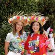 Exclusif - Sylvana Lorenz avec sa fille Amandine Cornette de Saint Cyr - Garden party organisée par Babette de Rozières chez elle à Maule le 30 juin 2019. © Cédric Perrin/Bestimage