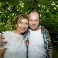 Exclusif - Philippe Bilger et sa femme - Garden party organisée par Babette de Rozières chez elle à Maule le 30 juin 2019. © Cédric Perrin/Bestimage