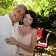 Exclusif - Henri Guaino et sa femme Catherine Bachelier - Garden party organisée par Babette de Rozières chez elle à Maule le 30 juin 2019. © Cédric Perrin/Bestimage
