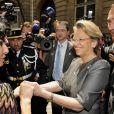 Rachida Dati passe le relais de ministre de la Justice à Michèle Alliot-Marie, 24/06/09.