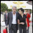 Rachida Dati et Alain Delon au Salon de l'aéronautique, à Paris. 18/06/09