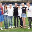 """PPDA, Hoda Roche, Jean-Claude Darmon, Jojo, Rachida Dati, Laeticia et David Hallyday au match de foot """"people"""" pour l'Unicef. PureExclu ! 14/06/09"""