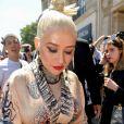 "Christina Aguilera arrive au défilé de mode Haute-Couture 2019/2020 ""Jean Paul Gaultier"" à Paris. Le 3 juillet 2019 © Veeren Ramsamy-Christophe Clovis / Bestimage"