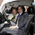 Le prince François d'Orléans et Theresa von Einsiedel lors de leur mariage à Straubing en Allemagne le 26 juillet 2014.