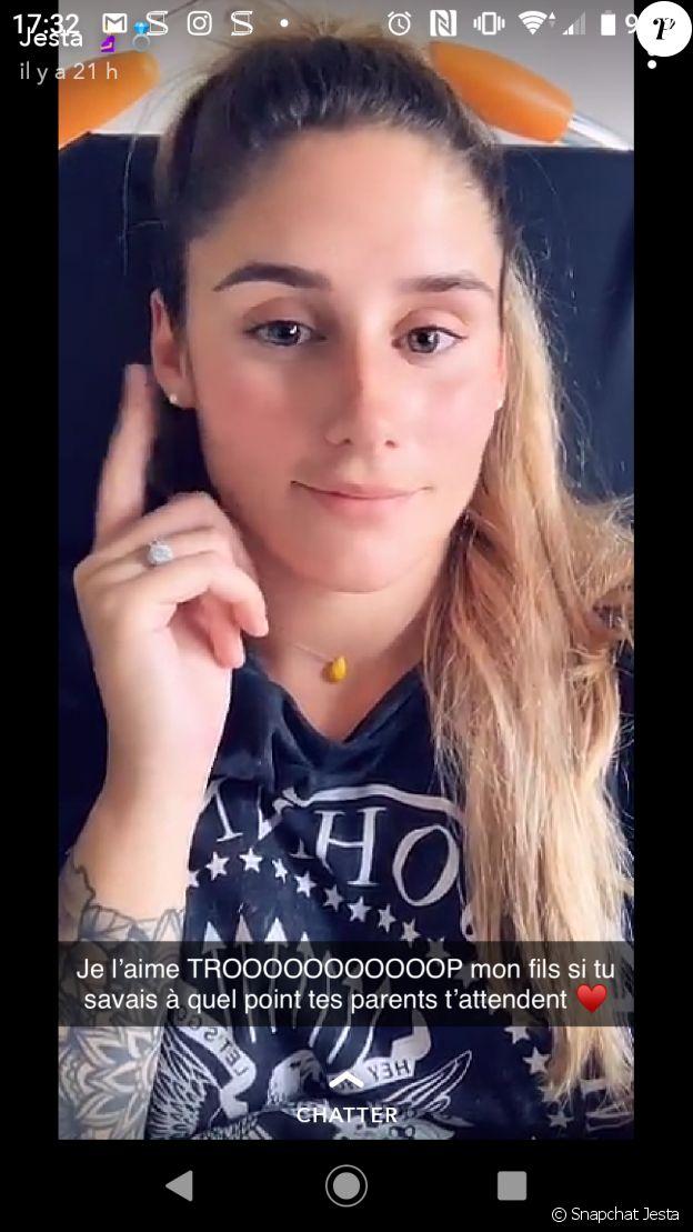 Jesta enceinte de son premier enfant, partage un passage à l'hôpital, le 3 juillet 2019