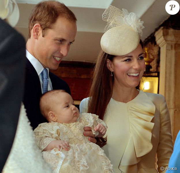Baptême du prince George de Cambridge, en la chapelle royale du palais St James a Londres. Le 23 octobre 2013.