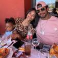 Ciara, Russell Wilson et leur fille Sienna à Cannes. Juin 2019.
