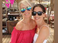 Laeticia Hallyday, sublime en rouge, s'éclate avec des copines à Saint-Tropez