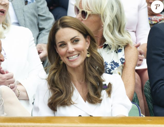 Catherine (Kate) Middleton, duchesse de Cambridge, au Tournoi de tennis de Wimbledon 2019 à Londres, Royaume Uni, le 2 juillet 2019.