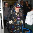 Madonna arrive à l'aéroport de New York (JFK), le 16 juin 2019.