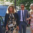Exclusive - Roger Federer et sa femme Mirka - Mariage de Katharine McPhee et David Foster en l'église arménienne St Yeghiche à Londres, Royaume Uni, le 28 juin 2019.