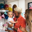 Marlon, le fils de Caroline Receveur et Hugo Philip, fête ses un an, le 7 juillet 2019