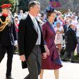 La princesse Anne et son mari le vice-amiral Timothy Lawrence à Windsor lors du mariage du prince Harry et de Meghan Markle le 19 mai 2018.