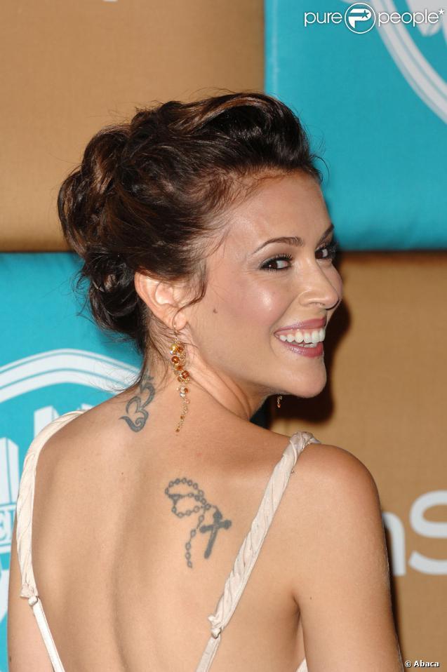 alyssa milano tattoo. Tatouages Alyssa Milano