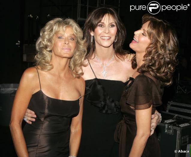 Farrah Fawcett avec Jaclyn Smith et Kate Jackson en août 2007