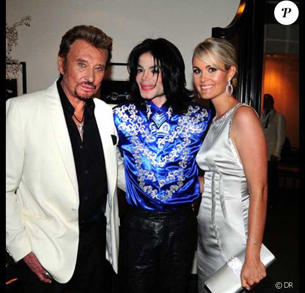 Johnny Hallyday, Michael Jackson et Laeticia